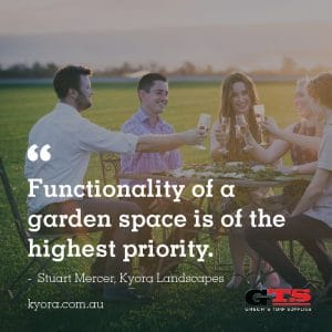 """Stuart explains, """"Functionality of a garden space is of the highest priority."""""""