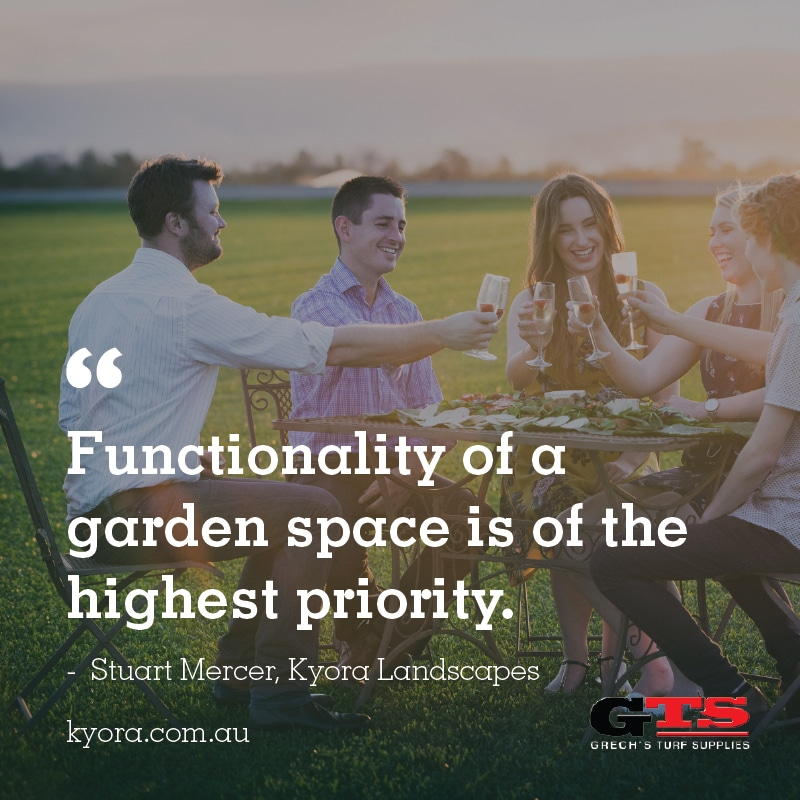 "Stuart explains, ""Functionality of a garden space is of the highest priority."""